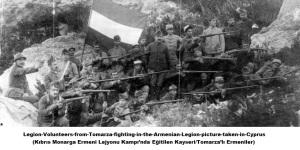 Legion-Volunteers-from-Tomarza-fighting-in-the-Armenian-Legion-picture-taken-in-Cyprus (Kıbrıs Monarga Ermeni Lejyonu Kampı'nda Eğitilen Kayseri/Tomarza'lı Ermeniler)