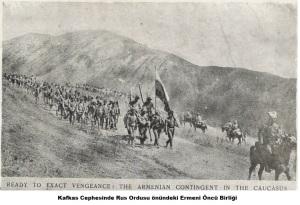 Kafkas Cephesinde Rus Ordusu önündeki Ermeni Öncü Birliği