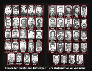 Ermeniler tarafından katledilen Türk Diplomatlar ve Yakınları